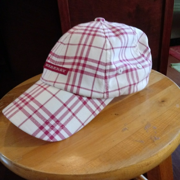 240a3d86dfe Burberry Accessories - Burberry Red White Plaid Golf Cap